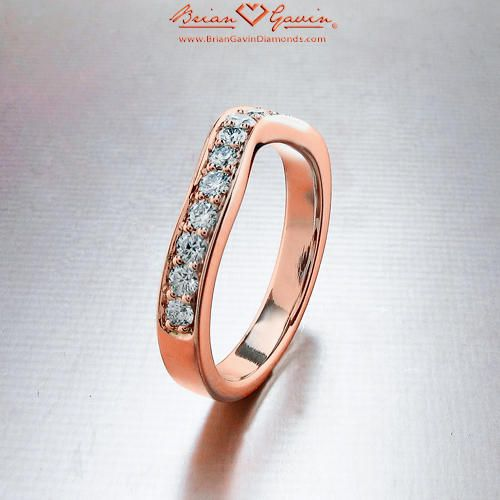 Peggy Curved Band 18K Rose Gold