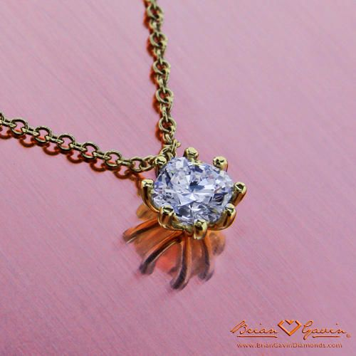 Eight Prong Pendant 18K Yellow Gold