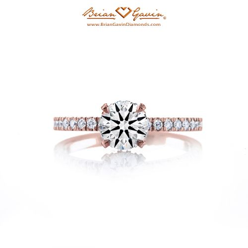 Petite Invisible Halo 18K Rose Gold