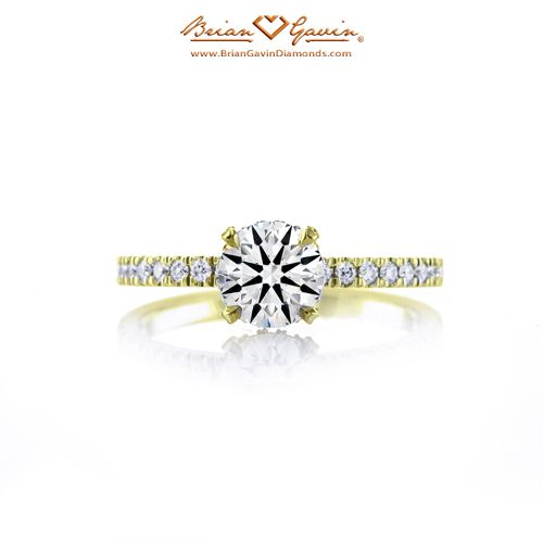 Petite Invisible Halo 14K Yellow Gold