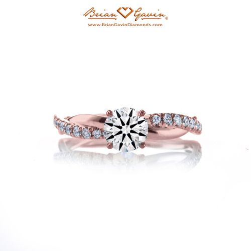Petite Twist Style Pave 18K Rose Gold