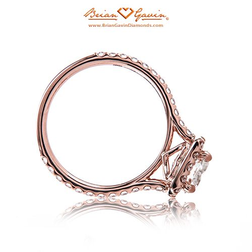 The Anita Halo 18K Rose Gold
