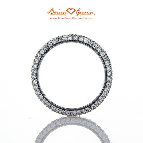 Domed Pave Band 18K White Gold