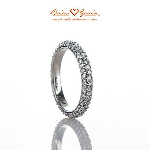 Domed Pave Band Platinum