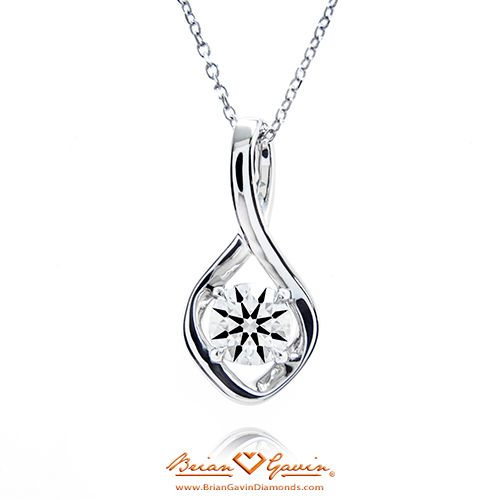 Twist Pendant  14K White Gold