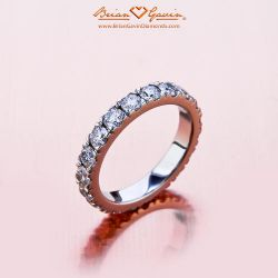 Bead Set Eternity Band