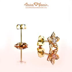 Flowers Small Studs 18K Yellow Gold