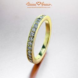 Micro Pave Band 18K Yellow Gold
