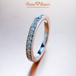 Micro Pave Band - Size: 5.75 - 18k White Gold