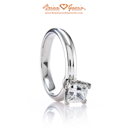 Four Prong for Square 18K White Gold