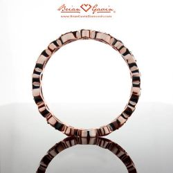 Marquise and Round Band - Size: 5.25 - 18k Rose Gold