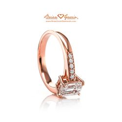 Bead Set Cathedral 18K Rose Gold