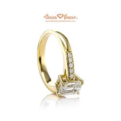 Bead Set Cathedral 18K Yellow Gold