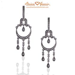 Extended Chandeliers 14K White Gold