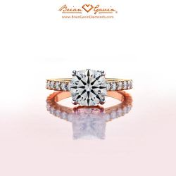 Eternal Grace with Pave 18K Rose Gold