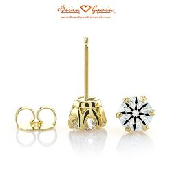 Six Prong Studs 14K Yellow Gold