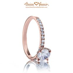 Petite Invisible Halo 14K Rose Gold