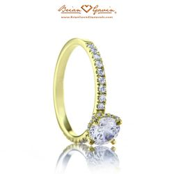 Petite Invisible Halo 18K Yellow Gold