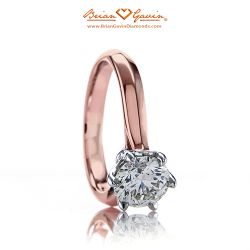 Crown Solitaire 18K Rose Gold