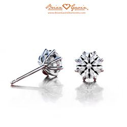 Eight Prong Studs 14K White Gold
