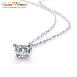 Hand Made Cushion Bezel Pendant Platinum