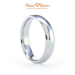 Comfort Fit Wedding Band 18K White Gold