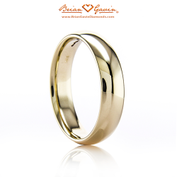 Comfort Fit Wedding Band 18K Yellow Gold