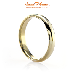 Half Round Band - Size: 9.5 - 18k Yellow Gold