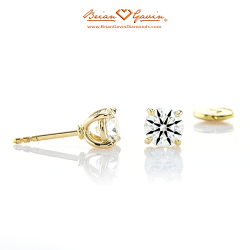 Handmade 4 Prong Martini Earrings 18K Yellow Gold