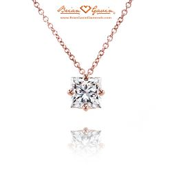 Four Prong Kite Set 18K Rose Gold