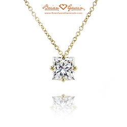 Four Prong Kite Set 18K Yellow Gold