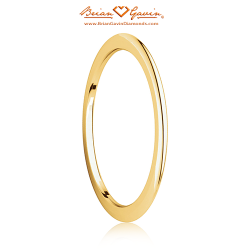 1mm Half Round Spacer Band-14K Yellow Gold