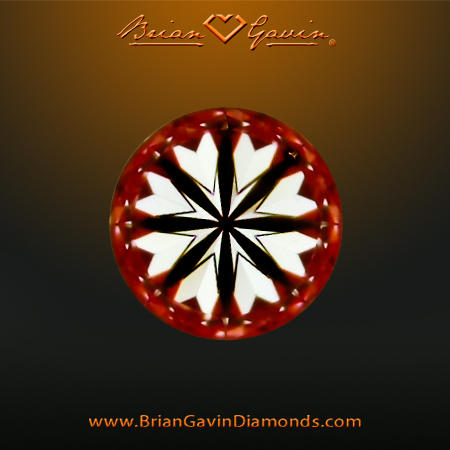 Hearts Image of H&A Super Ideal Cut Diamond