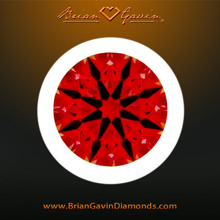 Ideal Scope image of Diamond, a Hearts and Arrows Super Ideal Cut Diamond