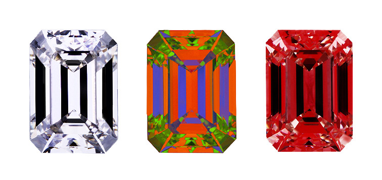 Signature Emerald Cut Diamonds Scope Images