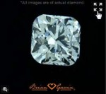 Brian Gavin Signature Cushion Cut Diamond with Hearts and Arrows