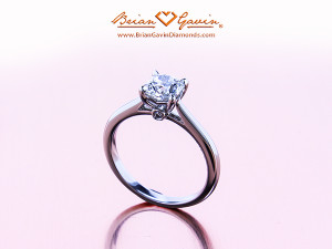 Ashleigh Elegant Cathedral Solitaire With Cushion Cut Diamond