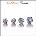 Valentine's Day: Coronet Diamond Stud Earrings from Brian Gavin