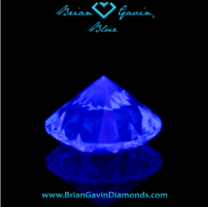 Brian Gavin L color diamond with strong blue fluorescence