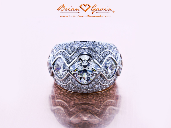 hat is the lowest diamond color that should be set in a platinum engagement ring or platinum prongs.