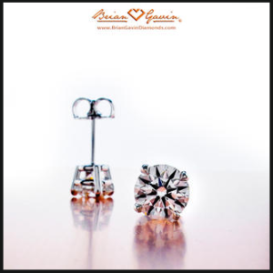 4 prong basket style diamond earrings