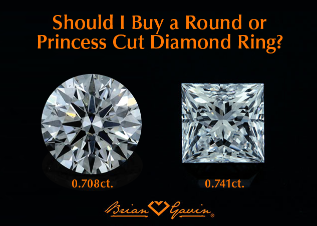 Should I Buy A Round Or Princess Cut Diamond Ring