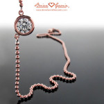 Mother's Day Gifts: Rose Gold & Diamond Pendant