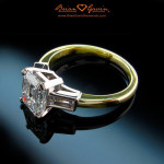 Stunning Three Stone Fancy Color Diamond Engagement Rings From Brian Gavin Diamonds