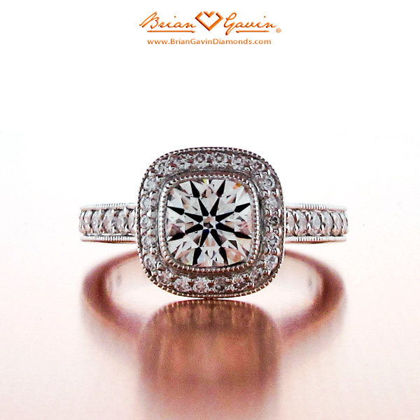 The round brilliant cut diamond is by far the most popular and most researched diamond shape available today For almost 100 years diamond cutters have been using advanced theories of light behavior and precise mathematical calculations to optimize the fire and brilliance in a round diamond