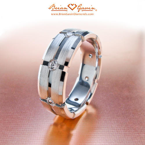 Wedding Ring On Chain Boy Or Girl: Double Chain Link Mens Wedding Band With Diamonds Brian