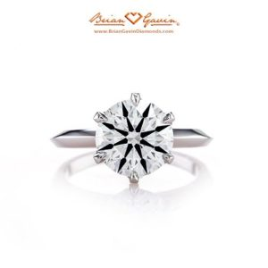Diamond Engagement ring with Knife Edge