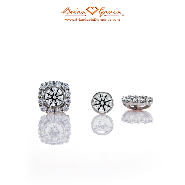 Round Vs Cushion Cut Diamond Stud Earrings