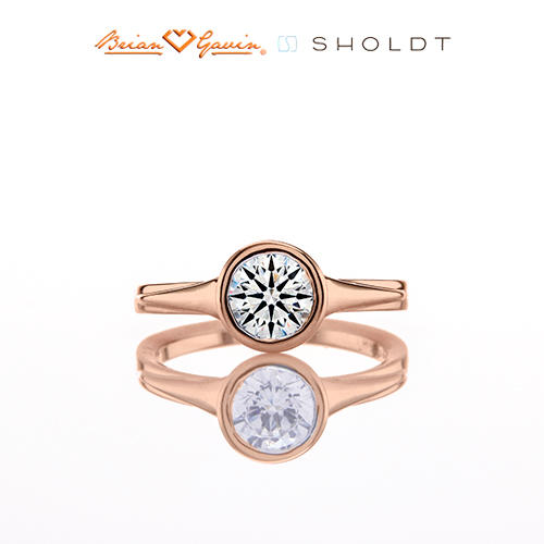 Choosing diamond for rose gold solitaire ering