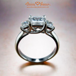 How to pick princess cut diamonds for three stone ring